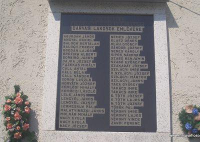 Darvas Emléktábla a világháborús hősöknek 2008.04.14. küldő-egy magyar anya (1)