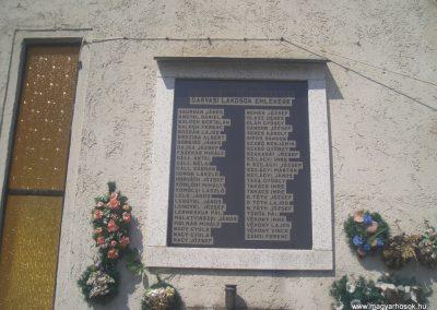 Darvas Emléktábla a világháborús hősöknek 2008.04.14. küldő-egy magyar anya