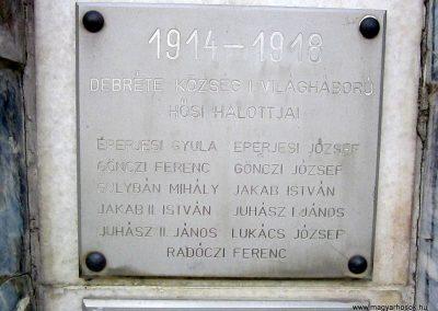 Debréte világháborús emlékmű 2014.06.15. küldő-kalyhas (3)