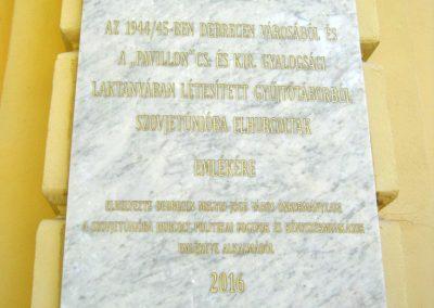 Debrecen Kossuth Gimnázium, volt Bocskai laktanya. I. és II. világháborús emléktáblák. 2017.07.15. küldő-Emese (2)
