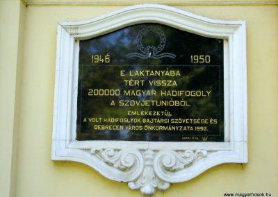 Debrecen Kossuth Gimnázium, volt Bocskai laktanya. I. és II. világháborús emléktáblák. 2017.07.15. küldő-Emese (7)
