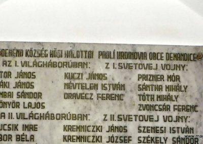 Deménd világháborús emléktábla a katolikus templomban 2014.09.15. küldő-Méri (2)