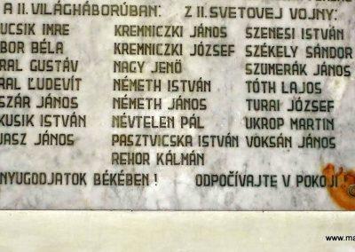 Deménd világháborús emléktábla a katolikus templomban 2014.09.15. küldő-Méri (3)