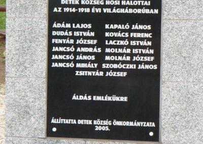 Detek világháborús emlékmű 2009.05.13.küldő-Gombóc Arthur (2)