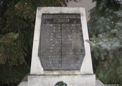 Domony II.vh emlékmű 2009.02.10.küldő-kalyhas (2)