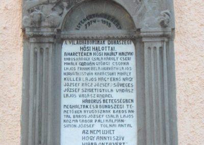 Dunaszeg I.vh.emlékmű 2006.11.07. Küldő-Hege