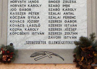 Dunaszeg II.vh.emlékmű 2006.11.07. Küldő-Hege (2)