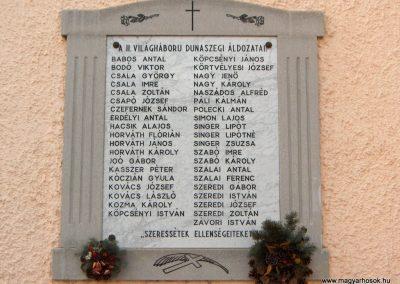 Dunaszeg II.vh.emlékmű 2006.11.07. Küldő-Hege