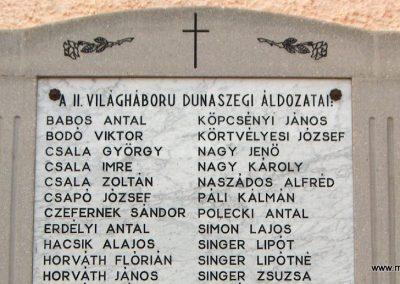 Dunaszeg II.vh.emlékmű 2006.11.07. Küldő-Hege(1)