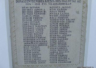 Dunaszentbenedek I. világháborús emlékmű 2007.10.03. küldő-Markó Péter (2)