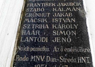 Dunaszerdahely II. világháborús emléktábla 2014.06.20. küldő-Méri (2)