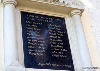 Edve I. világháborús emléktábla a róm. kat. templom falán 2016. 09.30. küldő-Méri (4)