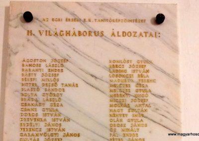 Eger Eszterházy Károly Egyetem II. világháborús emléktábla 2019.06.22. küldő-Bóta Sándor (2)