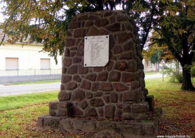 Egyházashetye, I-II. világháborús emlékmű