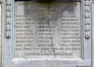 Egyházaskesző I.vh emléktábla 2010.09.17. küldő-Sümec (4)