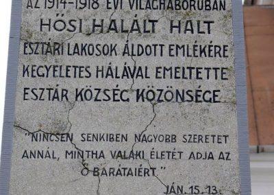 Esztár I.vh emlékmű 2010.11.28. küldő-Katona István (2)