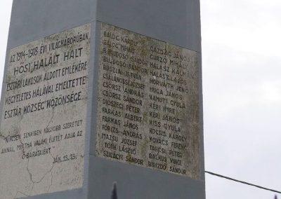 Esztár I.vh emlékmű 2010.11.28. küldő-Katona István (3)
