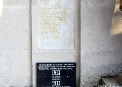 Etyek I. világháborús emlékmű felújítás után 2019.03.23. köldő-Bóta Sándor (7)