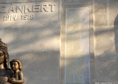 Etyek I. világháborús emlékmű felújítás után 2019.03.23. köldő-Bóta Sándor (9)