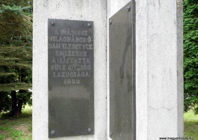 Füle II. világháborús emlékmű 2015.06.19. küldő-Méri