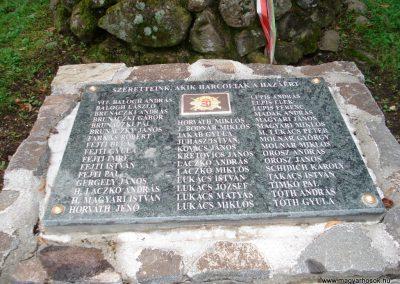 Füzér világháborús emlékművek 2011.08.09. küldő-megtorló (3)