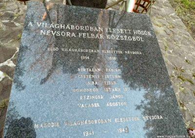 Felbár világháborús emlékmű 2014.12.21. küldő-Méri (5)