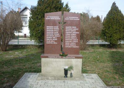 Felsőjányok világháborús emlékmű 2010.03.02. küldő-Felvidéki betyár