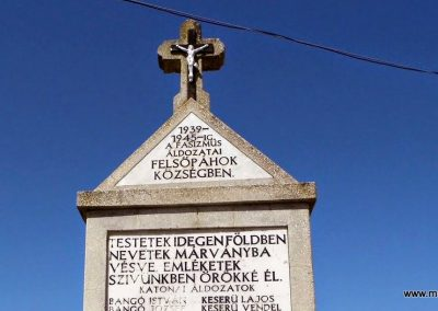 Felsőpáhok világháborús emlékmű 2014.06.09. küldő-Méri (3)