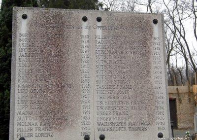 Fertőboz, I. és II. világháborús emlékmű
