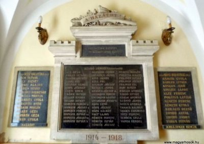 Fertőendréd, I. és II. világháborús emléktábla