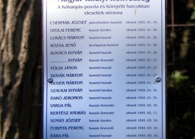 Gánt, Kőhányáspuszta, temető. II. világháborús emlékmű