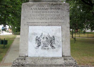 Gávavencsellő - Gáva I. világháborús emlékmű 2014.06.23. küldő-kalyhas (3)