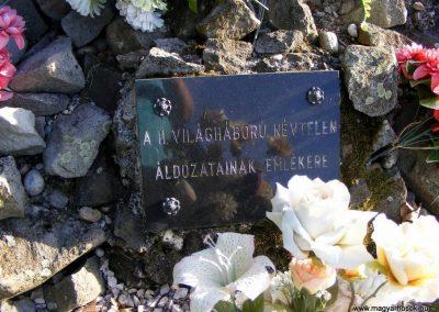 Gönyü a II.vh névtelen áldozatainak emlékműve 2012.04.27. küldő-Méri (2)