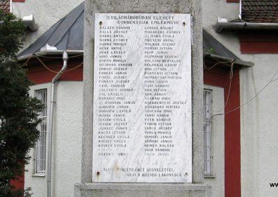 Görbeháza II.vh emlékmű 2008.07.15. küldő-Kályhás (2)