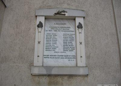 Galgaguta I.vh emléktábla 2010.01.26. küldő-kalyhas (2)