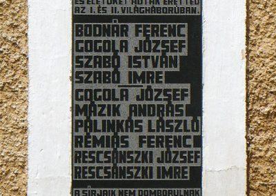 Galvács világháborús emléktábla a RK templom falán 2010.08.14. küldő-Gombóc Arthur (3)