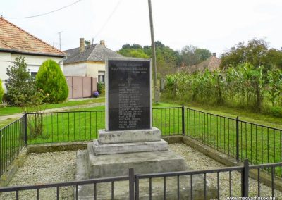 Gecse, II. világháborús emlékmű