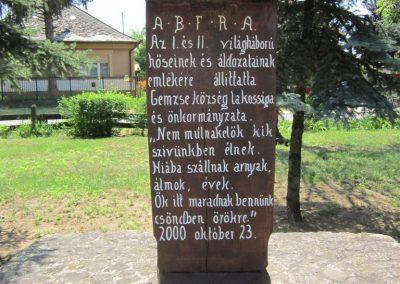 Gemzse világháborús emlékmű 2013.07-08. küldő-kalyhas (3)