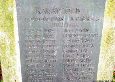 Gersekarát-Karátfölde- világháborús emlékmű 2011.11.26. küldő-Szabó Viktor (2)