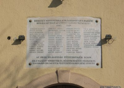Gesztely I.vh emléktábla a róm.kat. templom falán 2009.03.21.küldő-kalyhas (2)