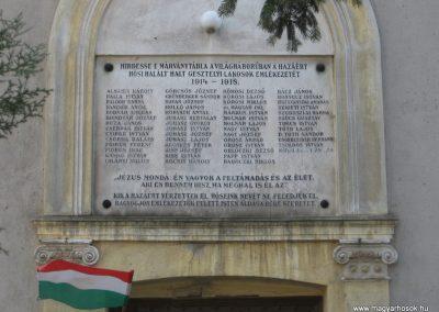 Gesztely I.vh emléktábla a református templom falán 2009.03.21.küldő-kalyhas (2)