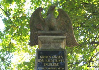 Girincs I. világháborús emlékmű 2007.09.24. küldő-kalyhas (2)