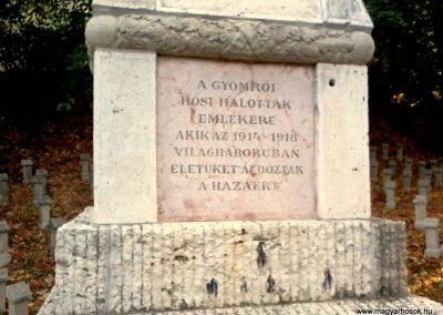 Gyömrő I.vh emlékmű 2011.10.08. küldő-Sándor Zoltán (1)