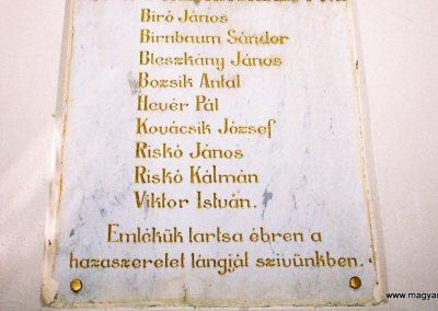 Gyöngyös-Mátrafüred I. világháborús emléktábla 2009. küldő-Emese (2)