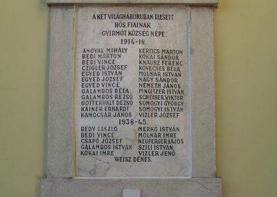 Győr-Gyirmót Világháborús emléktábla 2009.01.24.küldő-Ancsa84 (1)