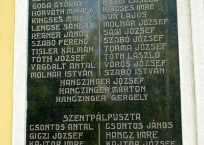 Győrszemere világháborús emléktáblák a templom falán 2010.06.07. küldő-Sümec (3)