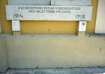 Győrszemere világháborús emléktáblák a templom falán 2010.06.07. küldő-Sümec (5)