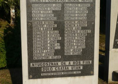Győrvár hősi emlékmű 2009.09.25. küldő-Sümec (2)