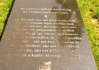 Gyergyószentmiklós Székely határőrök emlékére 2010.08.05. küldő-ERA (2)