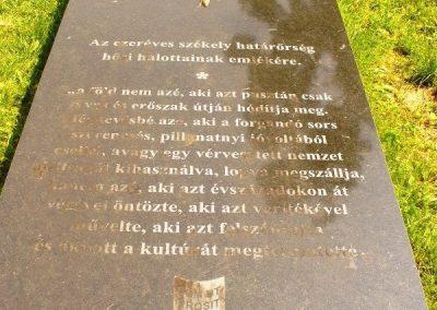 Gyergyószentmiklós Székely határőrök emlékére 2010.08.05. küldő-ERA